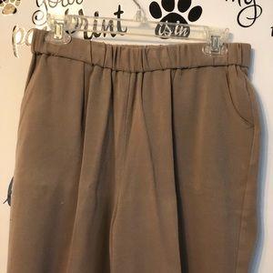 JM Collections Beige Slacks Trousers 14p women's